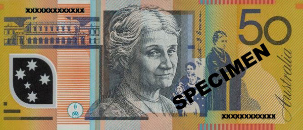 Image result for edith cowan 50 dollar note