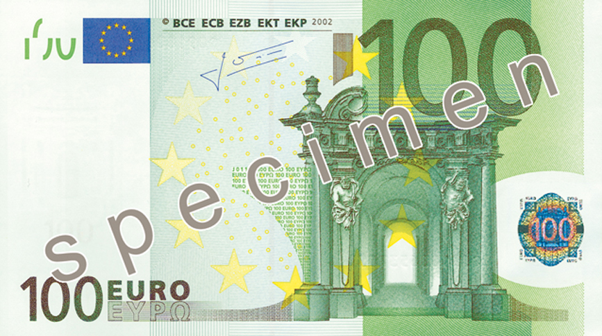 100 Euro banknote - Counterfeit money detection: know how