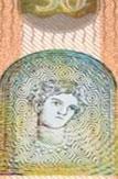 new 50 Euro note Portrait window front 1