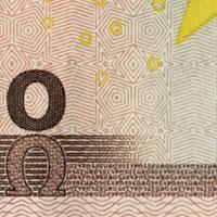 new 50 Euro note Microprint 1