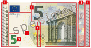 5 euro new europa series counterfeit money detection know how. Black Bedroom Furniture Sets. Home Design Ideas