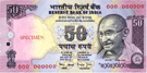 Fifty Indian rupees banknote