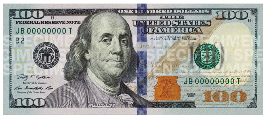 100 US Dollars bill obverse