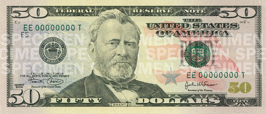 United States fifty dollar bill - Counterfeit money detection: know how