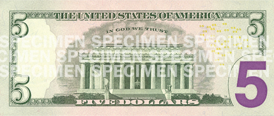 United States five dollar bill - Counterfeit money detection: know how